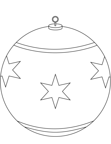 371x480 Round Christmas Ornament Coloring Page Free Printable Coloring Pages