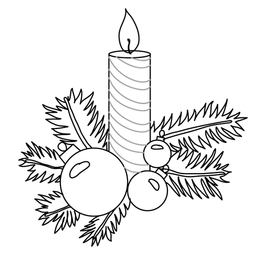 500x500 Christmas Decorations Easy To Draw