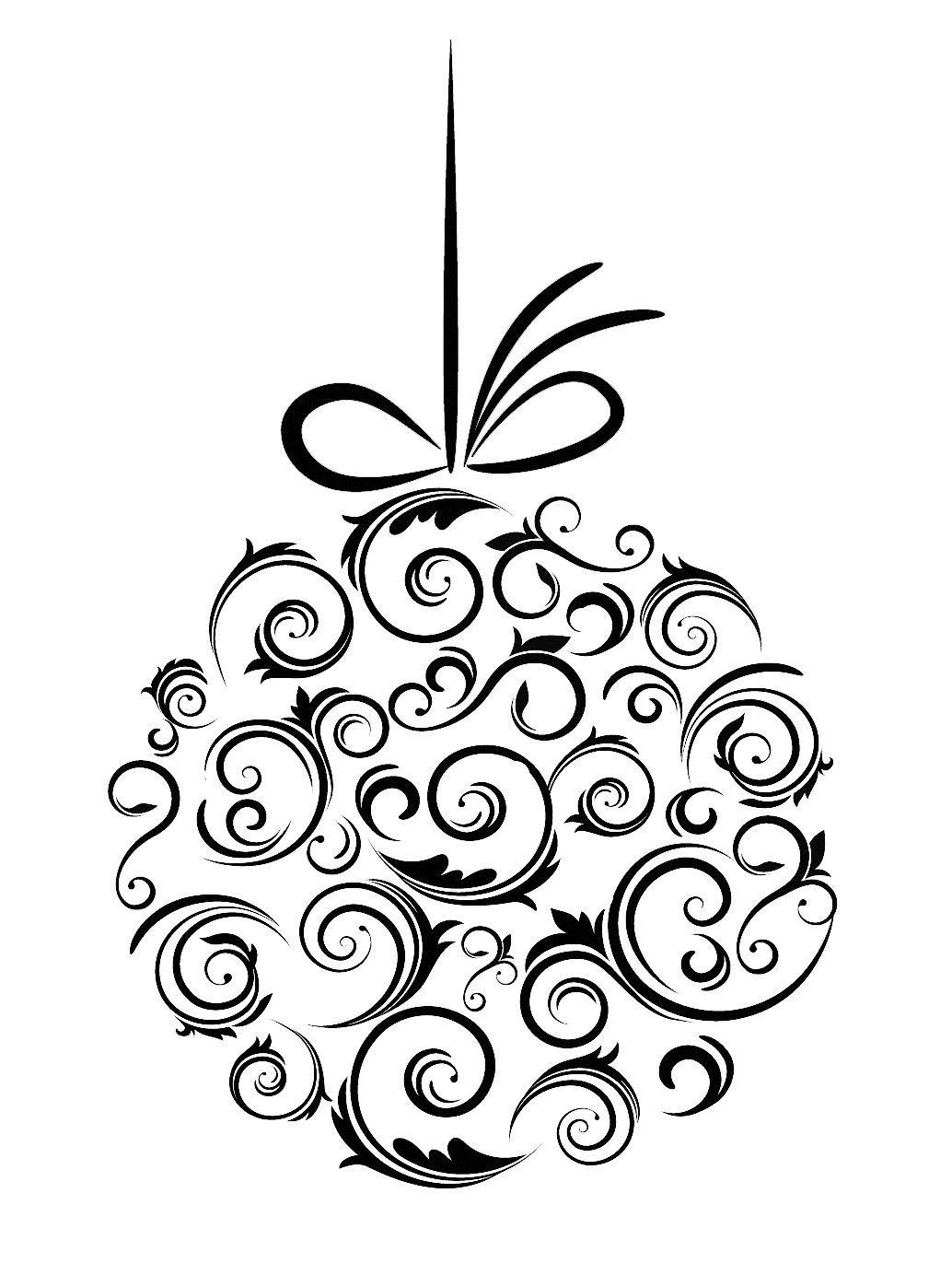 Christmas Ornament Line Drawing