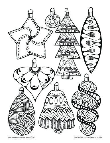 386x500 Christmas Ornaments To Color Pin Drawn Ornaments Color 1 Christmas