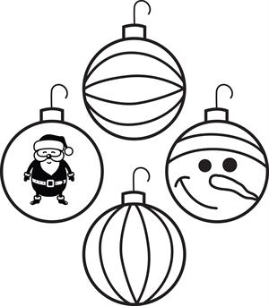 Christmas Ornament Line Drawing at GetDrawings | Free download