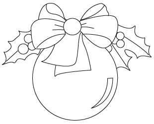 310x250 Christmas Tree Ornaments Drawing To Color