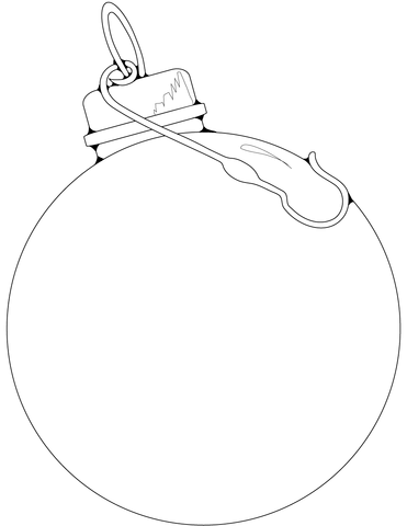 371x480 Blank Christmas Ornament Coloring Page Free Printable Pages
