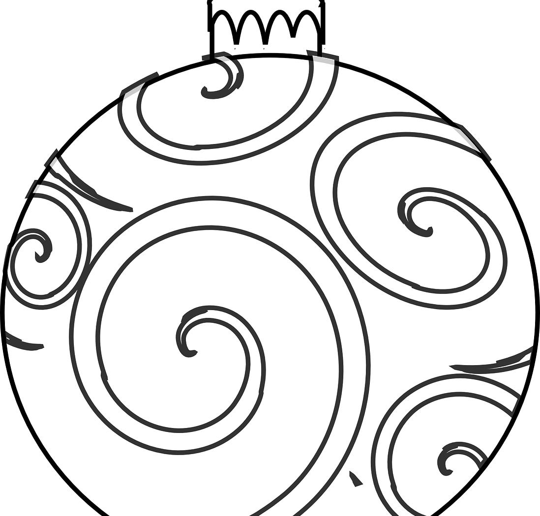 Christmas Ornament Line Drawing at GetDrawings.com | Free for ...