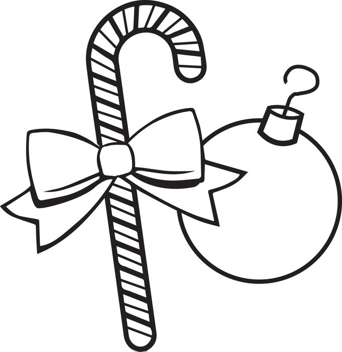 679x700 Free, Printable Christmas Ornaments Coloring Page For Kids
