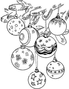 236x307 Printable Christmas Ornament Coloring Page. Free Pdf Download