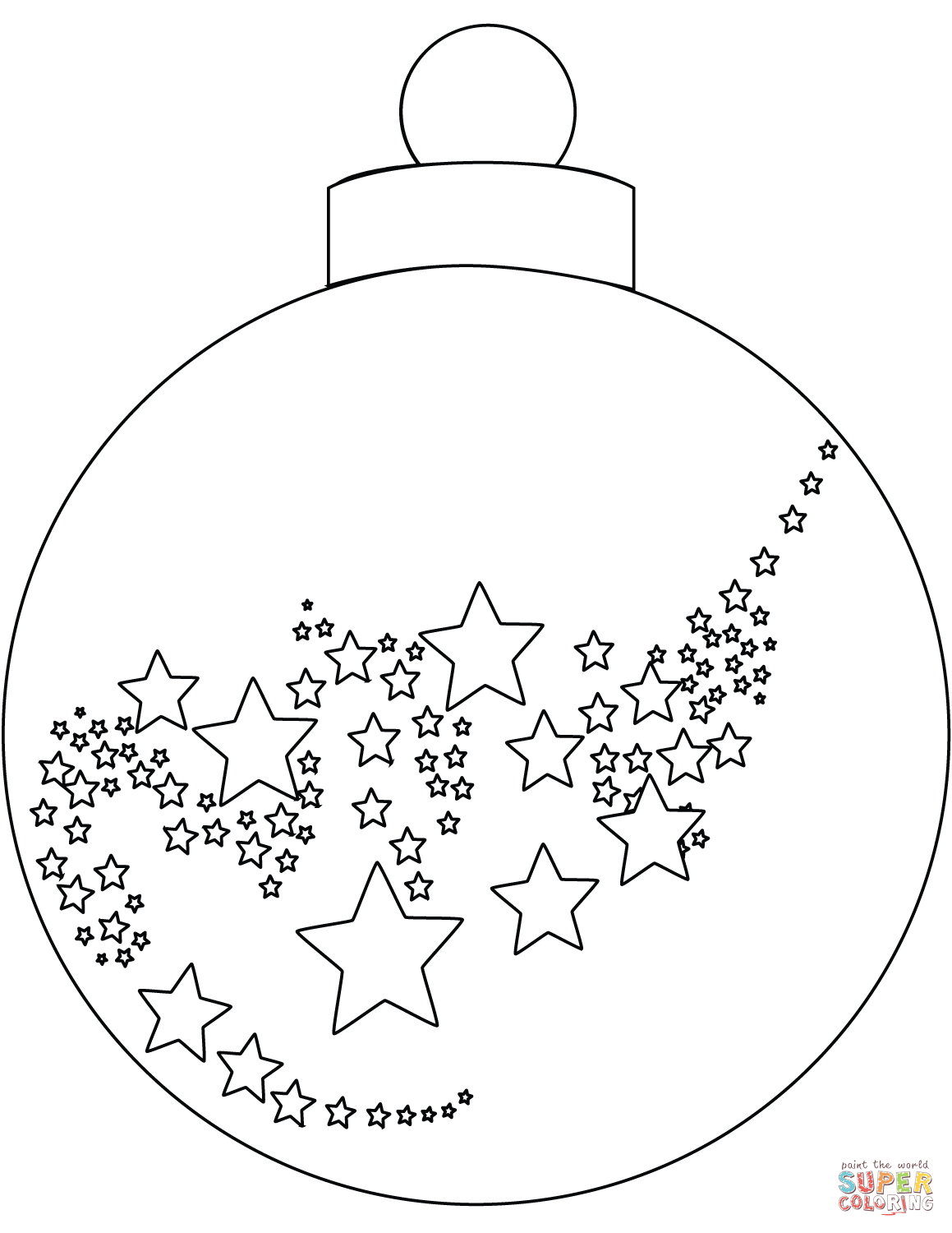 1159x1500 Christmas Ornament Coloring Page Free Printable Pages