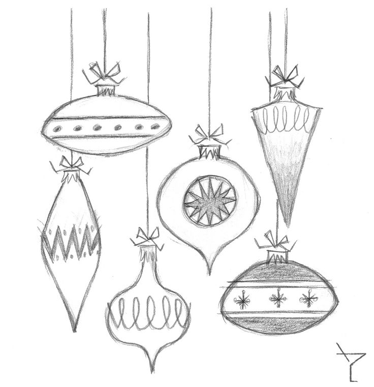 Christmas Ornaments Drawing