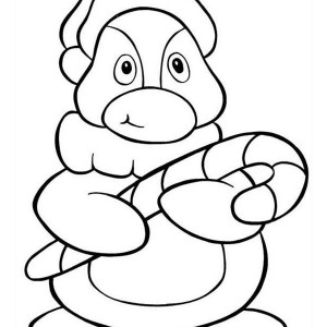 300x300 cute christmas penguin coloring pages color bros