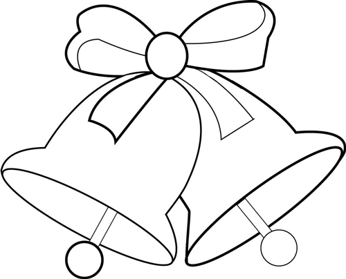 500x404 How To Draw Christmas Bells And Bow Step By Step Drawing Lesson