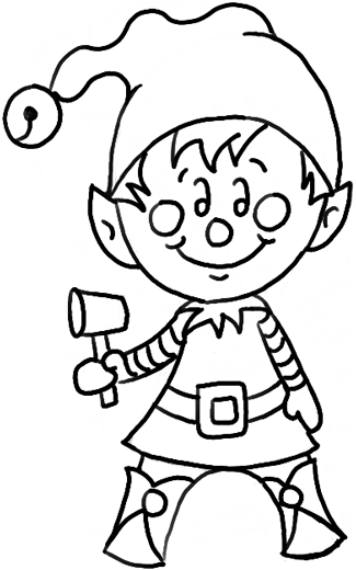 325x520 How To Draw A Christmas Elf With Easy Steps Drawing Tutorial