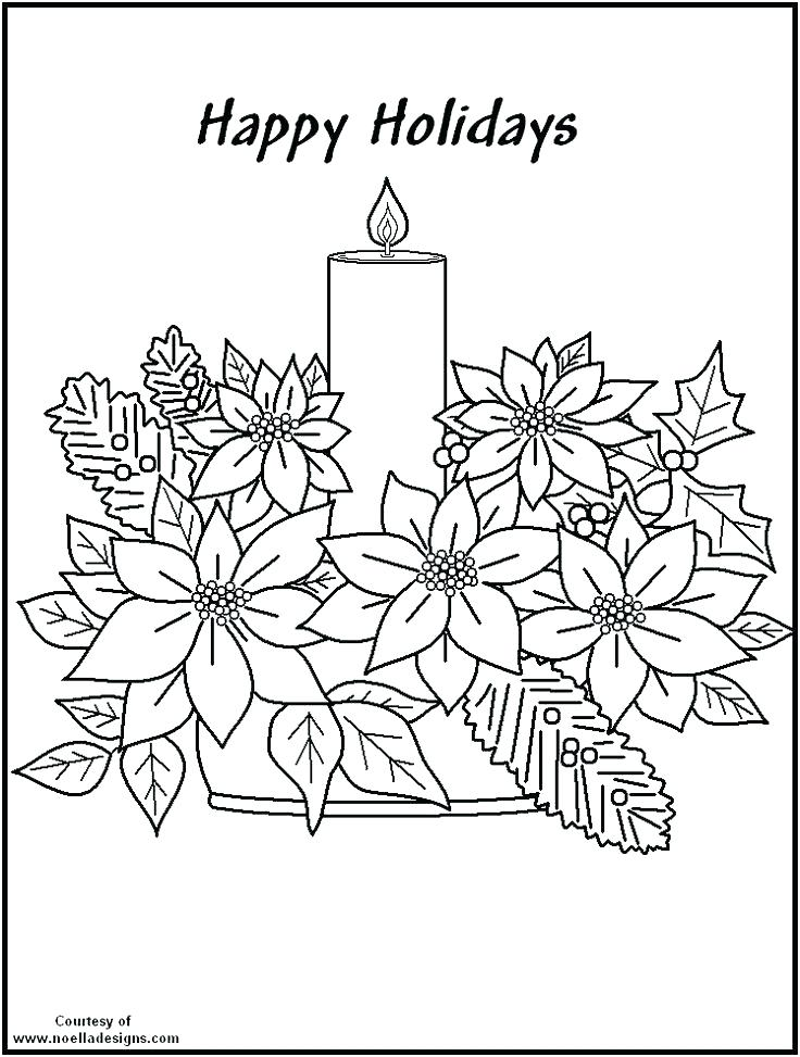 736x973 Poinsettia Coloring Sheet Drawing Of Poinsettia Coloring Page