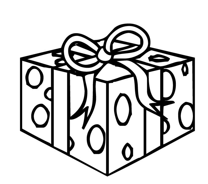 678x600 christmas gift coloring page free coloring page