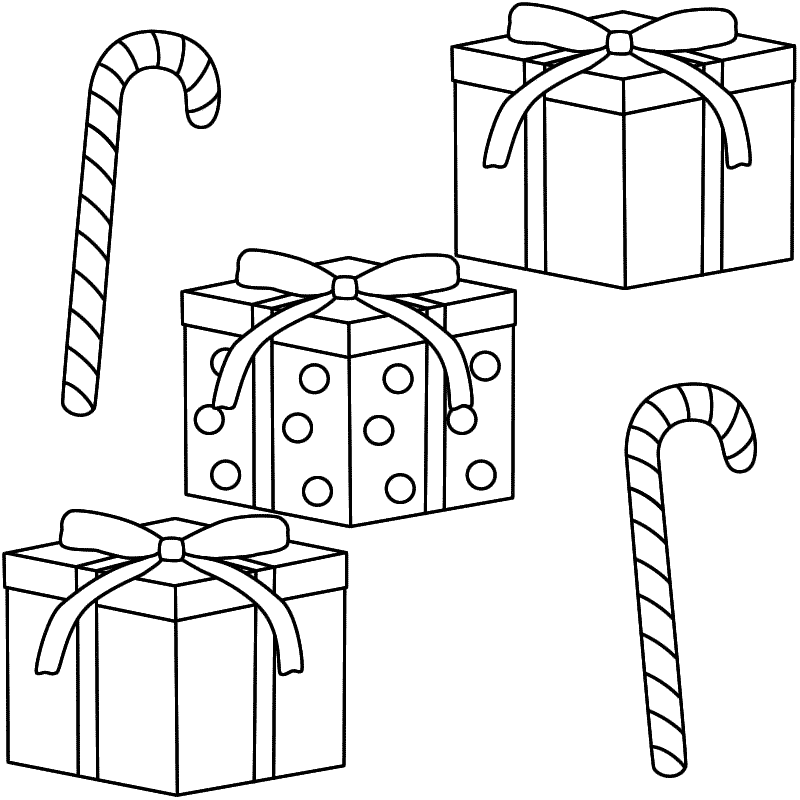 free coloring pages present | Christmas Present Drawing at GetDrawings.com | Free for ...