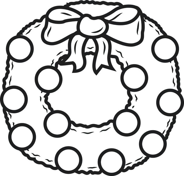 700x671 Christmas Wreath Coloring Page Coloring Pages Wreath Intricate