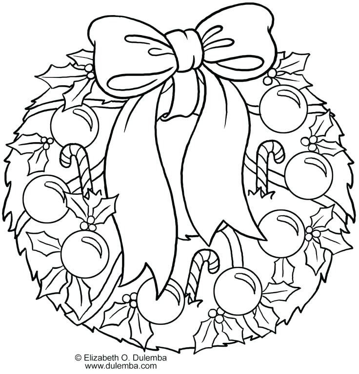 736x768 Christmas Wreath Coloring Page Wreath Coloring Pages Wreath