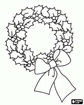 Christmas reef drawing at getdrawings free for personal use 280x350 cut out christmas wreath printable merry christmas amp happy new maxwellsz