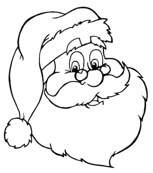 600x680 coloring pages santa coloring page pages christmas santa
