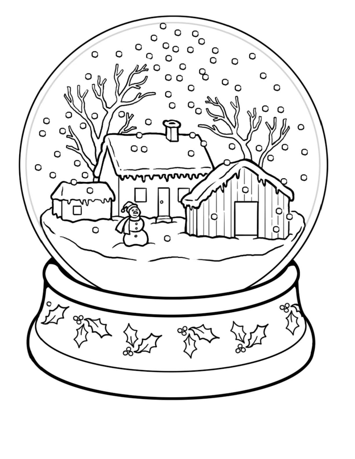 1224x1584 Christmas Scenes Coloring Pages