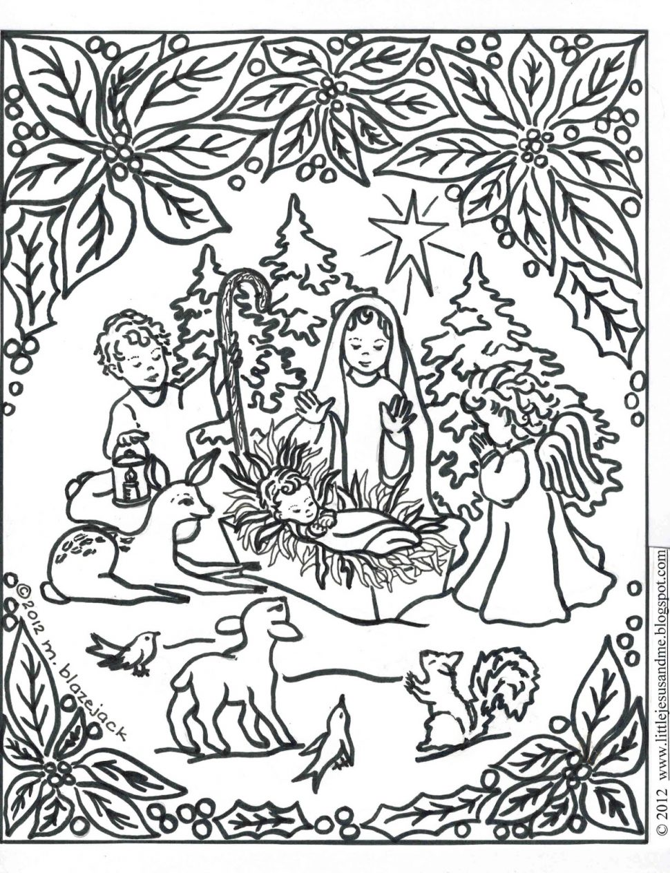 970x1264 Coloring Hard Nativity Drawing Image78607838 Incredible