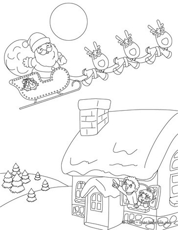 364x470 Christmas Scenes Coloring Pages