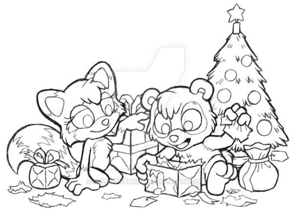 600x442 Naku Christmas Scene Inked By Lululunabuna