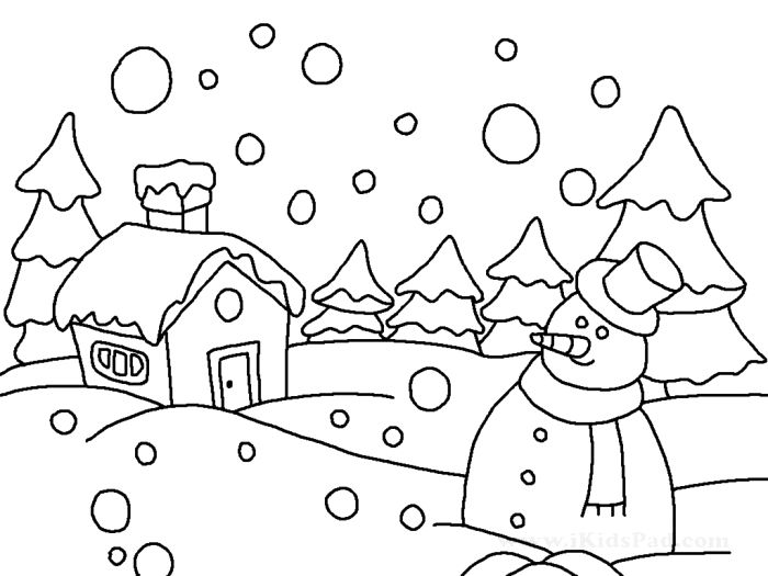 700x525 Winter Season Drawing Ideas Easy