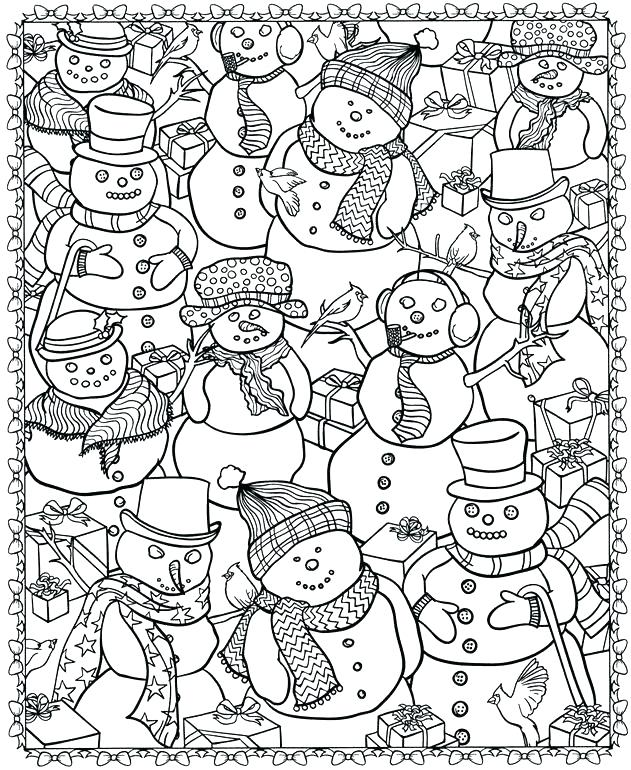 631x770 Christmas Scene Coloring Pages