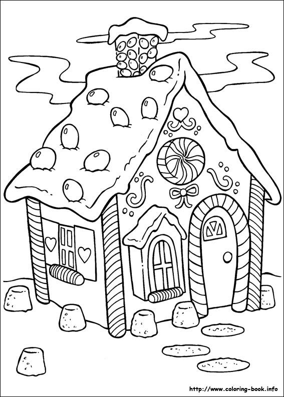 567x794 Christmas Scenes Coloring Pages