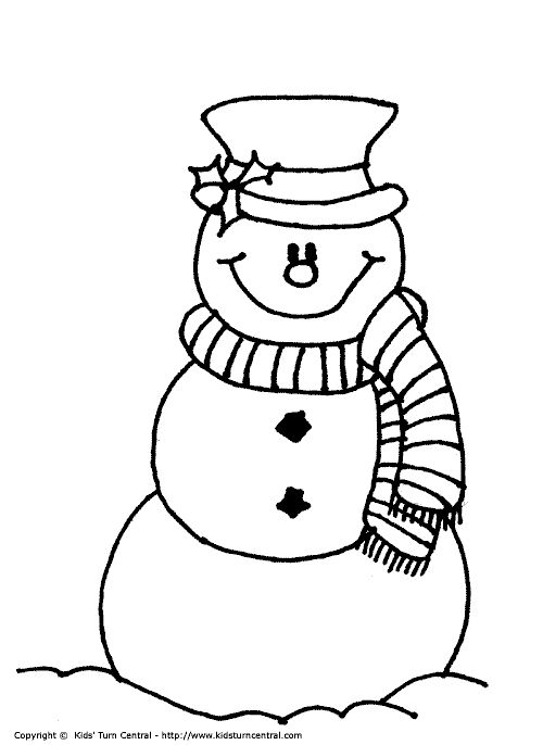 Christmas Snowman Drawing