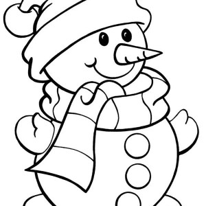 300x300 snowman christmas touch snowflake coloring page color luna