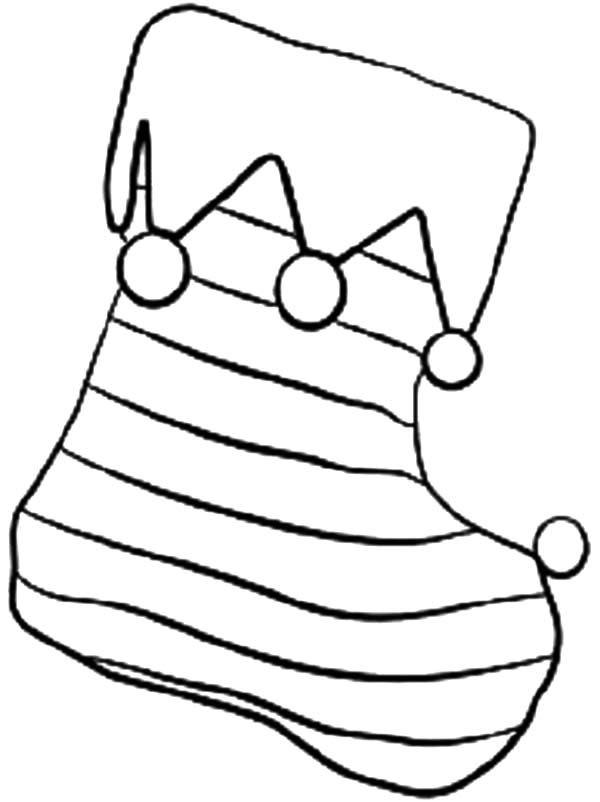 600x802 Stripe Christmas Stockings Coloring Pages
