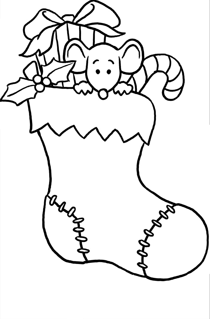 Christmas sock drawing at free for for Christmas socks coloring pages