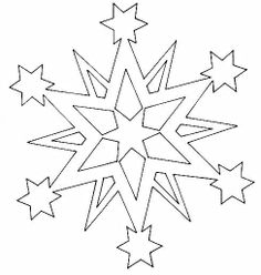 236x248 Christmas Stars Paper Cutting Templates
