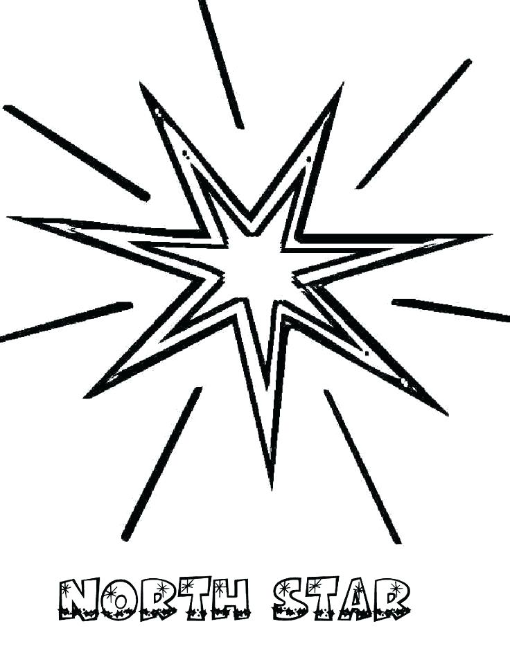 736x952 Christmas Star Coloring Page Star Coloring Page North Star