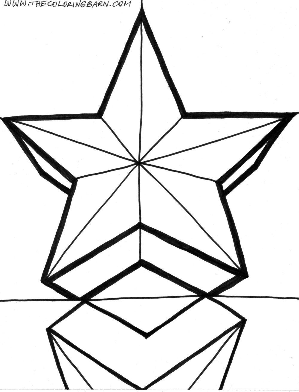 1000x1310 Christmas Star Countdown Coloring Pages
