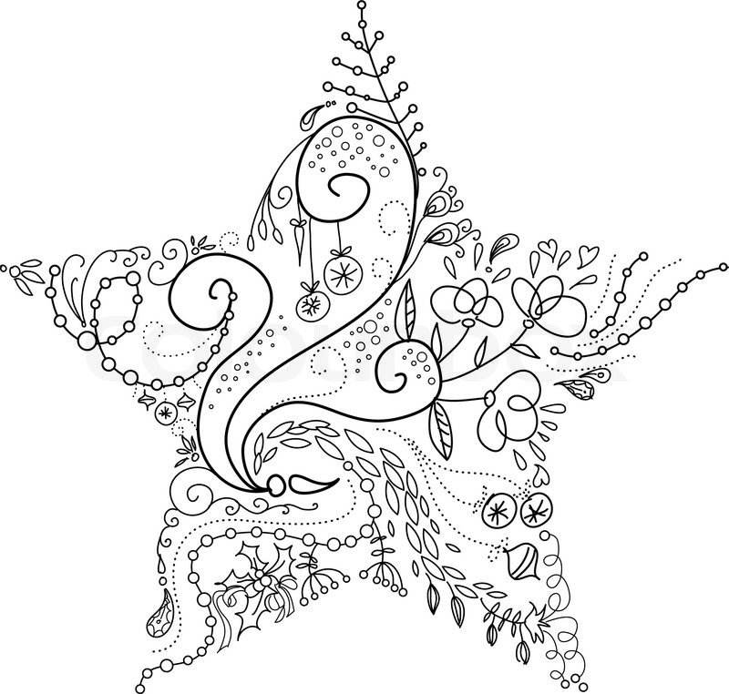 Christmas Stars Drawing at GetDrawings.com | Free for personal use ...