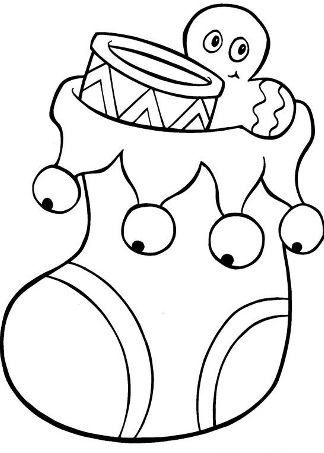 1032x1440 christmas stocking coloring pages