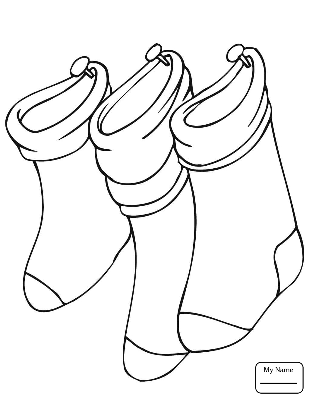 Christmas Stocking Drawing at GetDrawings.com | Free for personal ...