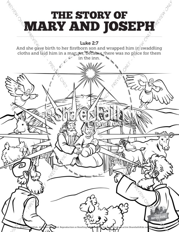 598x776 Luke 2 Mary And Joseph Christmas Story Bible Video For Kids