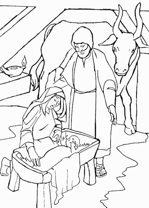 625x872 Coloring Page Bible Christmas Story Kids N Fun Embroidery