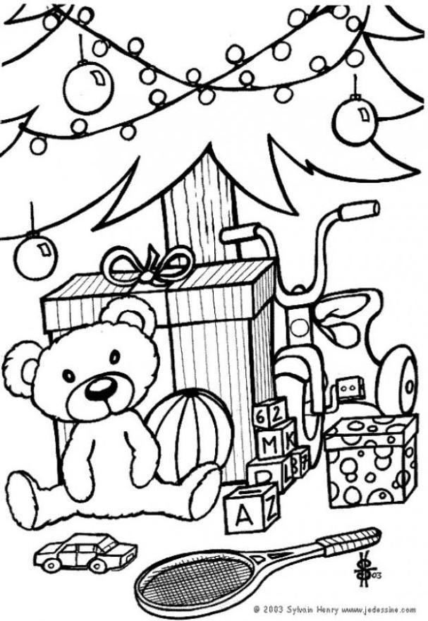607x880 Coloring Page Christmas Presents