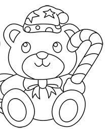 halloween teddy bear coloring pages | Christmas Teddy Bear Drawing at GetDrawings.com | Free for ...