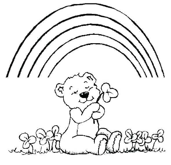 590x569 Teddy Bears Coloring Pages Bear And Little One Page