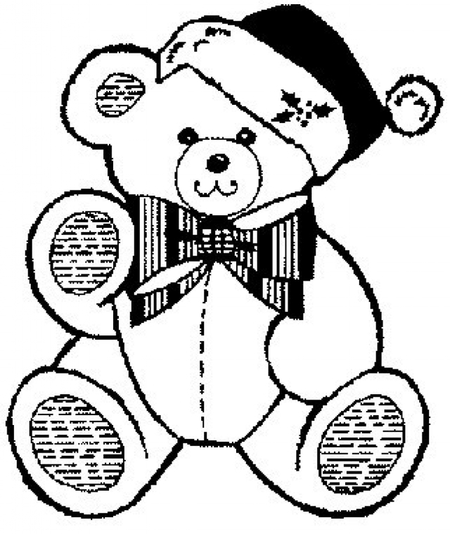 640x759 Christmas Teddy Bear Coloring Pages
