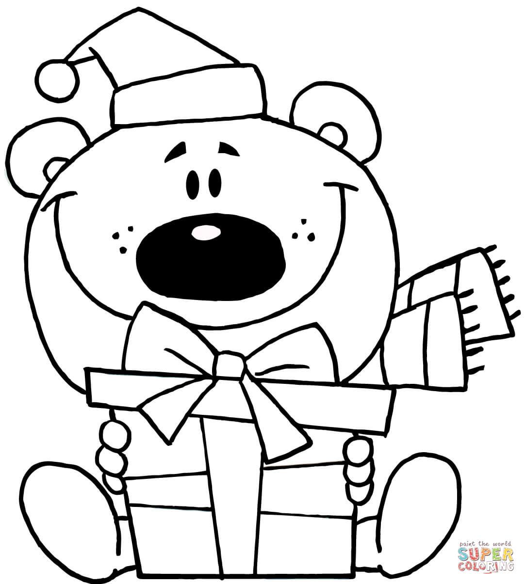 Christmas Teddy Bear Drawing at GetDrawings | Free download