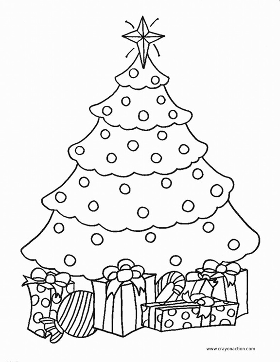 576x745 Christmas Tree Coloring Pages Printable Cute