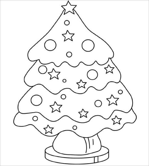 Christmas Tree Decorations Drawing