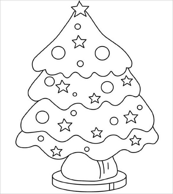 585x653 Christmas Tree Templates