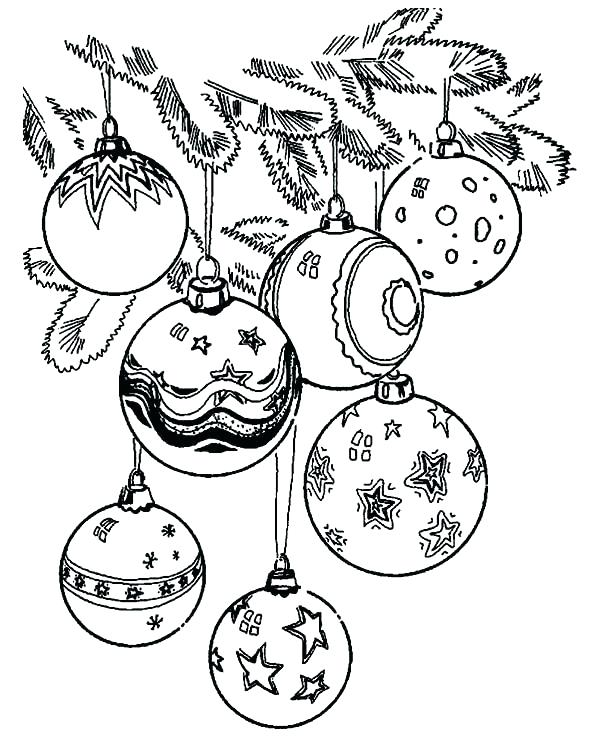 600x738 Christmas Ornament Coloring Sheets Ornament Coloring Pages